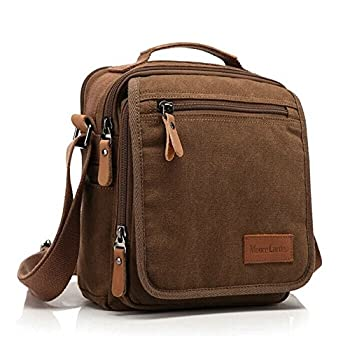 Ibagbar Men's Vintage Canvas Shoulder Everyday Bag