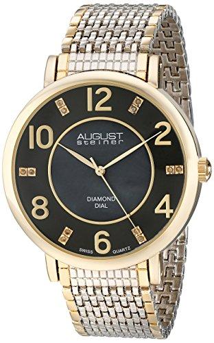 August Steiner Men's 44mm Multicolor Metal Metal Case Quartz Watch AS8138TTG