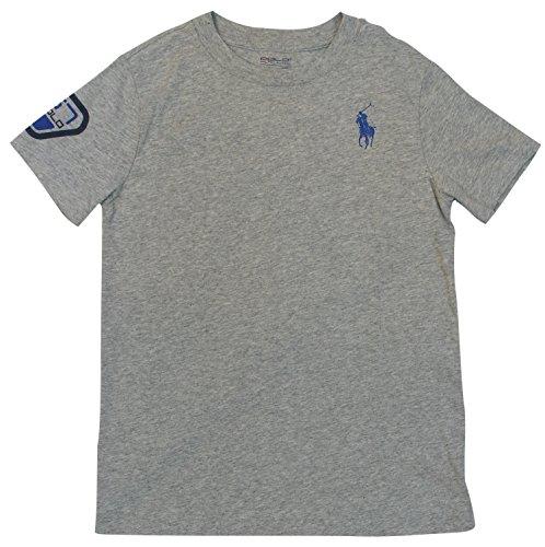 Polo Ralph Lauren Big Boys' Graphic Logo T-Shirt - M (10-12) - Gray