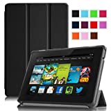 "Fintie Amazon All New Kindle Fire HD 7"" SmartShell Case Cover Ultra Slim Lightweight with Auto Sleep / Wake Feature - Black (will only fit All New Kindle Fire HD 7 2nd Generation 2013 Model)"