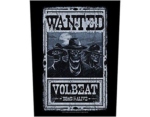 Volbeat-Wanted-Toppa/Back patch-Spedizione gratuita