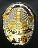 LAPD ロサンゼルス市警ポリスバッジ BLADE-RUNNER&革製横型ケース付き