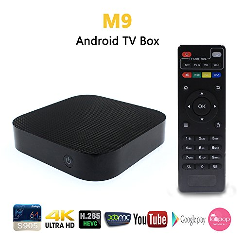 PINRUI M9 Android TV Box Amlogic S905 Quad Core 4K XBMC Kodi 1G/8G 2.4GHz Wifi 1000M LAN Ethernet