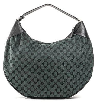 cd798c66ae8 Gucci GG Guccissima Canvas   Leather Green Handbag .