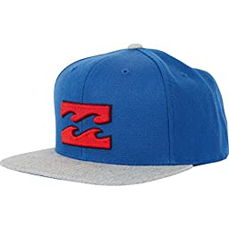 Billabong Men\'s All Day Snapback Hat, Dark Royal, One Size