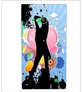 PrintDhaba Love girl D-4403 Back Case Cover for NOKIA LUMIA 730 (Multi-Coloured)