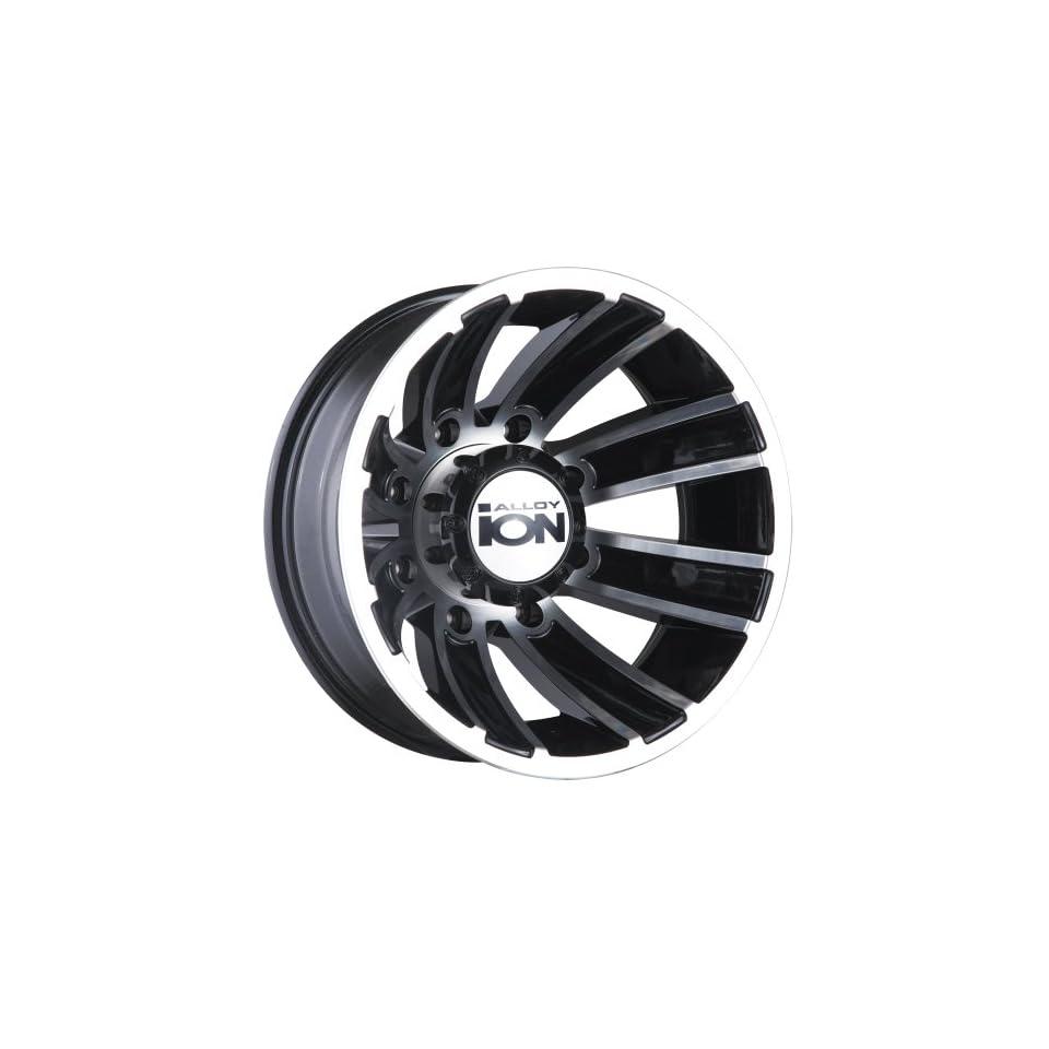 17 Inch 17x6.5 Ion Alloy wheels STYLE 166 Gunmetal Matte wheels rims