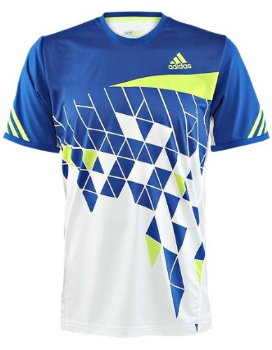 ADIDAS ADIZERO FEATHER FORMATION CLIMACOOL TENNIS SHIRT(Blue)