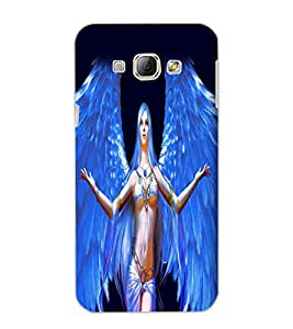 SAMSUNG GALAXY A8 ANGEL GIRL Back Cover by PRINTSWAG