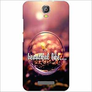 Micromax Canvas Juice 2 Back Cover - Silicon Beautiful Life Designer Cases