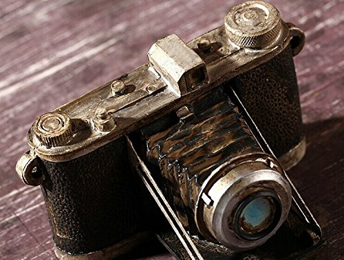 Zakka Grocery Home Furnishing Decor Craft Ornaments Worn Do Dirty Craft Tin Camera/radio/piano Decoration (Camera) 5