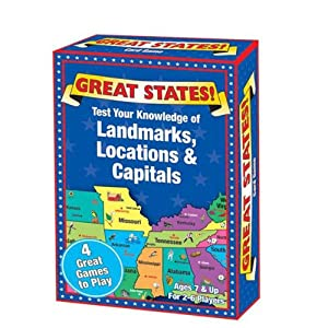 I Play Great States Landmarks Locations & Capitals Game