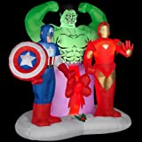 CHRISTMAS DECORATION LAWN YARD INFLATABLE AIRBLOWN AVENGERS 6' TALL