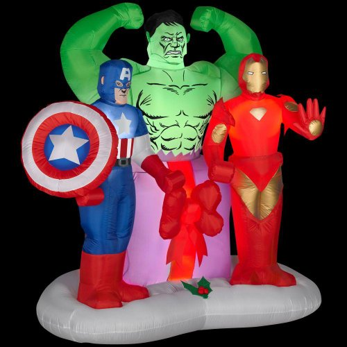 Christmas Decoration Lawn Yard Inflatable Airblown Avengers 6' Tall front-467764