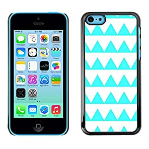 Omega Covers - Snap on Hard Back Case Cover Shell FOR Apple iPhone 5C - Aquamarine Pattern White Shape