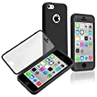Generic Premium Full Housing Case with Front and Back Protection and Built in Screen Protector for Apple iPhone 5C – Black