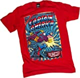 King-Size Comic Cover -- Captain America T-Shirt