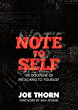 img - for Note to Self: The Discipline of Preaching to Yourself (Re: Lit Books) book / textbook / text book