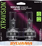 Sylvania 9003 XV XtraVision Halogen Headlight Bulb (Low/High Beam), (Pack of 2)