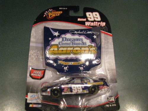 2005 Michael Waltrip #99 Aaron's Dreams Come True At Aarons Special Paint Scheme Monte Carlo 1/64 Scale Diecast & Matching Magnet Hood Winners Circle