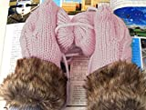 1-Sets (1 Pair) Excellent Popular Hots Women's Warm Gloves Outdoor Driving Winter Season Wrist Girls Cover Color Pink