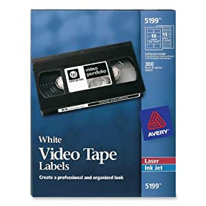 Avery Laser Video Tape Cassette Labels Face and Spine