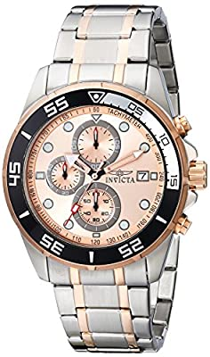"Invicta Men's 17015SYB ""Specialty"" Two-Tone Silver And Rose Gold Stainless Steel Watch"