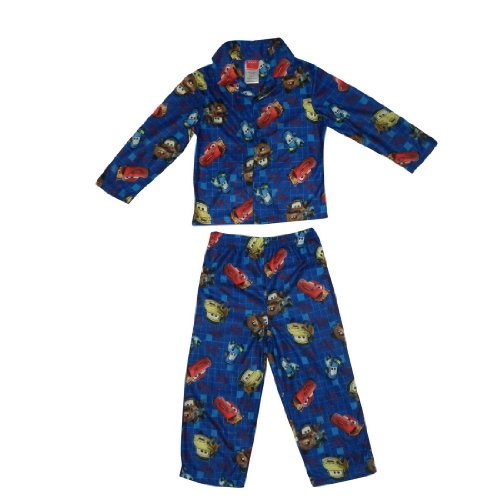 2 PCS SET: Boys Or Girls Disney Cars Fleece Sleepwear Pajama Top & Pants Set