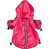 Pet Life Reflecta-Sport Rain Jacket/Windbreaker in Hot Pink - Small
