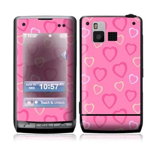 Pink Hearts Decorative Skin Cover Decal Sticker for LG Dare VX9700 Cell Phone