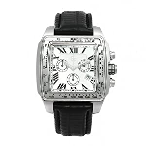 GUESS Men's 30007G1 GC Chronograph White Dial Watch