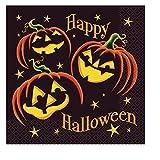 16 servilletas calabaza negra Halloween