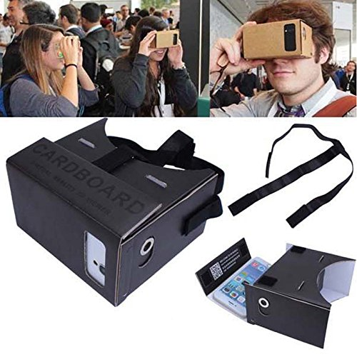 Blue DIY Cardboard 3D VR Glasses Box Private Theater with Magnetic Sensor for 4 - 7 inch Smartphone