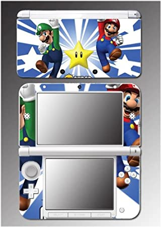 New Super Mario Bros Brothers Luigi Video Video Game Vinyl Decal Cover Skin Protector 12 for Nintendo 3DS XL