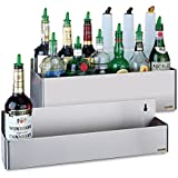 "San Jamar B5522 Stainless Steel Single Rail Speed Rack Bottle Holder, 21-1/4"" Width x 6"" Height x 4-1/8"" Depth"