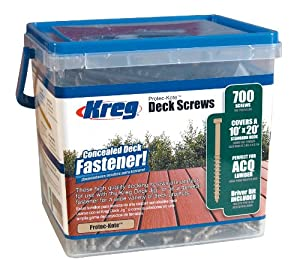 KREG SDK-C2W-700 2-Inch, #8 Coarse, Deck Screw, 700 Ct