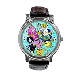 Adventure Time Jake and Finn54-Adventure Time Jake and Finn Unique Diy Custom Photo Design Round Wrist Women Watch -S59