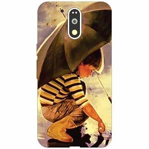 Motorola Moto G4 Plus Back Cover - Silicon Little boy Designer Cases