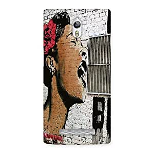 Impressive Girl Singing Wall Back Case Cover for Oppo Find 7