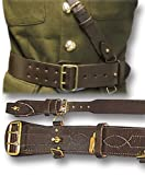 #!  Sam Browne Belt & Cross Strap, black or brown leather (40, Brown)