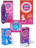 Durex Play Ultimate Pleasure Kit - Includes Durex Delight, Little Devil, Touch, Ultra, Vibe Ring & FREE Tin of After Sex Mints