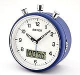 Seiko stylish Blue finish Clock Beep Alarm Chronograph Stopwatch Timer Function