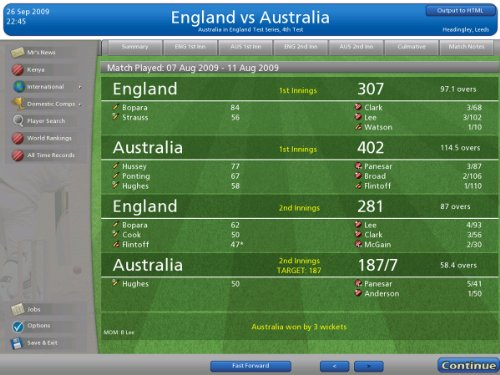 Cricket Coach 2010  screenshot