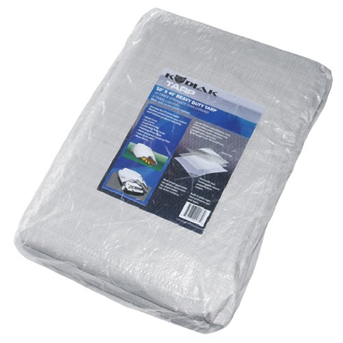 Kodiak Tarps Grey 10' x 40' Tarp Cover Patio or Yard Canopy For Shade or Weather! Heavy Duty at an Affordable Price!