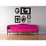 Wall Decal Vinyl Sticker Decals Art Decor Design Alice in Wonderland Rabbit Cat Clock Frames Words Quote Dorm Bedroom Fashion (r1281) by CreativeWallDecals