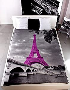 vliesdecke wohndecke decke paris 130x160 pop art france frankreich eiffelturm k che. Black Bedroom Furniture Sets. Home Design Ideas