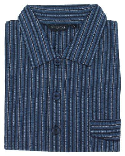 Men's Nightshirt (MCN14) Navy Stripe - 100% Brushed Cotton