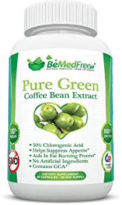 Pure Green Coffee Bean Extract 800mg GCA® (50% Chlorogenic Acid) ♥ All Natural Weight Loss Pills ♥ Ultimate Fat Burner Capsules For Men & Women ♥ Lose Weight Naturally With The Max Strength Fat Burner Diet Pill Supplement ♥ Finally, Weight Loss Supplements With Zero Additives, No Artificial Ingredients, And, Of Course, GMO Free!
