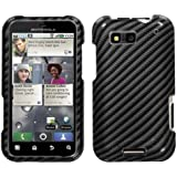 MYBAT Phone Protector Cover for Motorola MB525 Defy - Retail-Packaging - Racing Fiber/Black