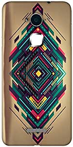 Snoogg Spiral zoyd Designer Protective Back Case Cover For Coolpad Note 3 (White, 16GB)